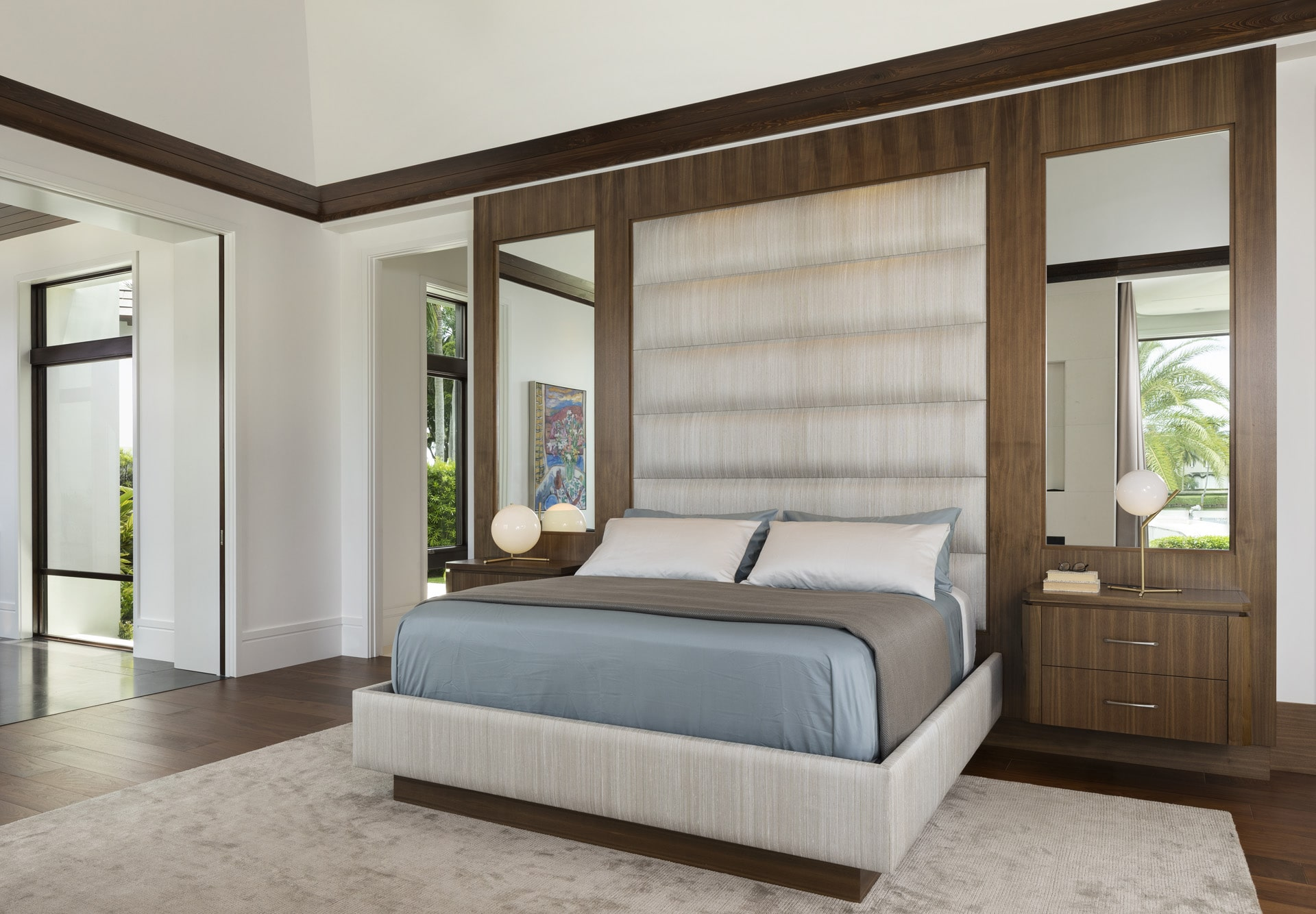 Port Royal Home - Custom Designed Bed Wall