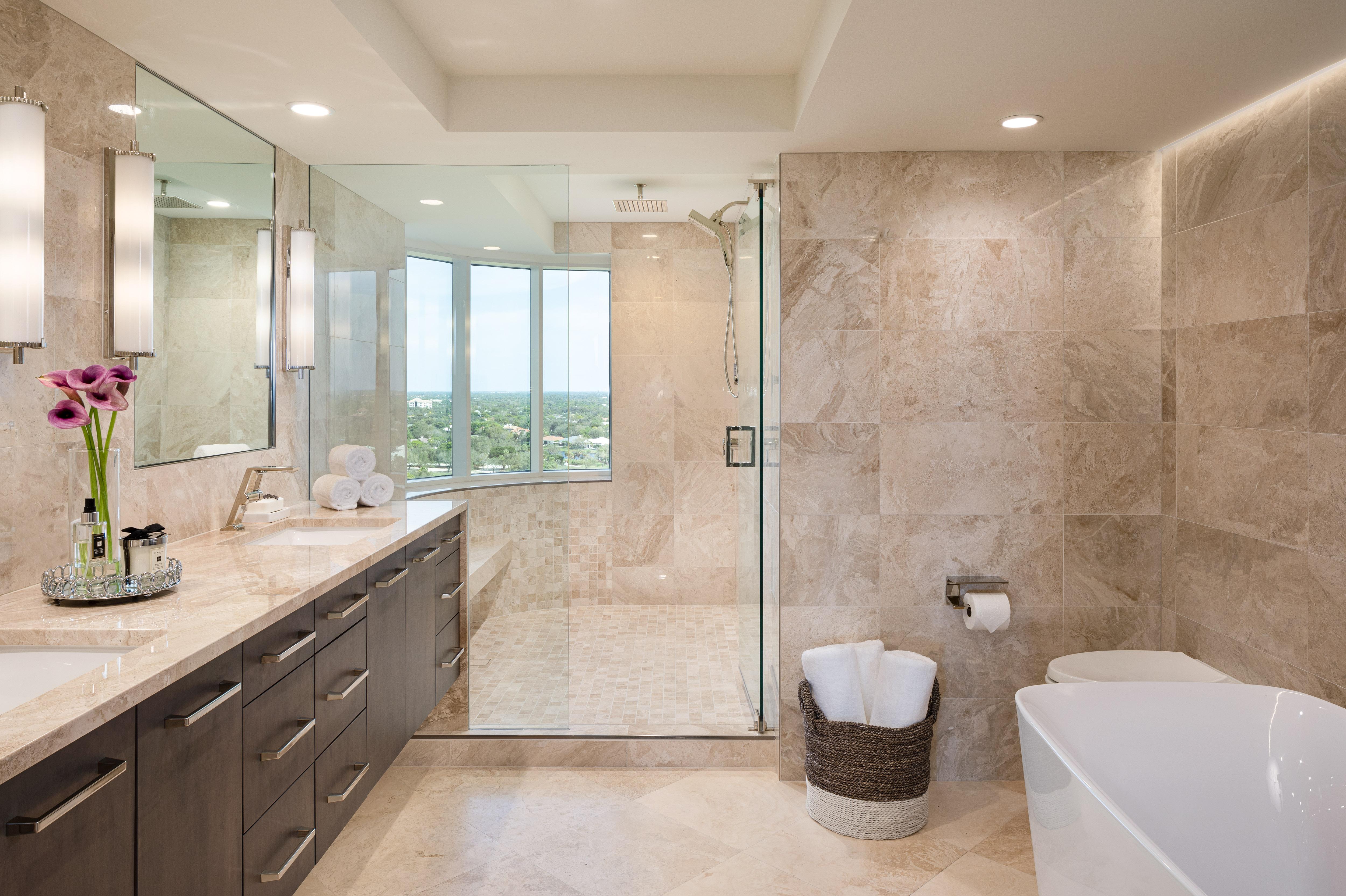 St. Pierre Condo Remodel Master Bath Shower
